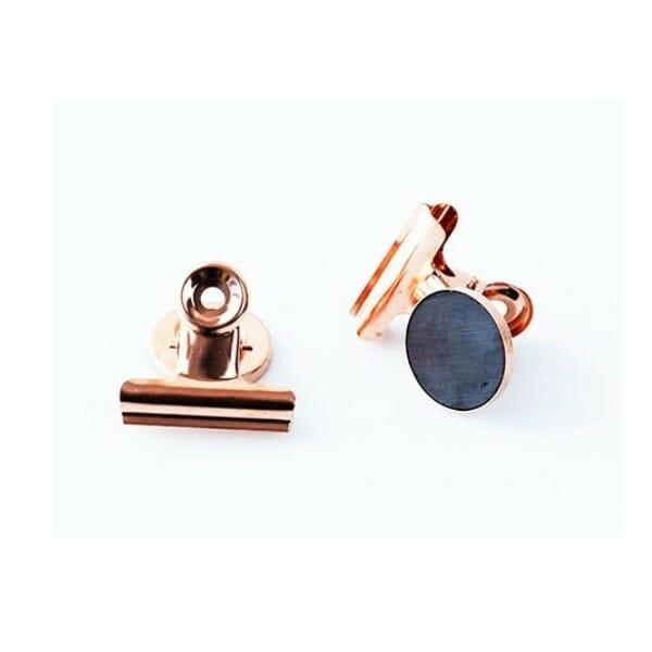 Clips met magneet koper met ferriet magneet en kleine clip 3 cm