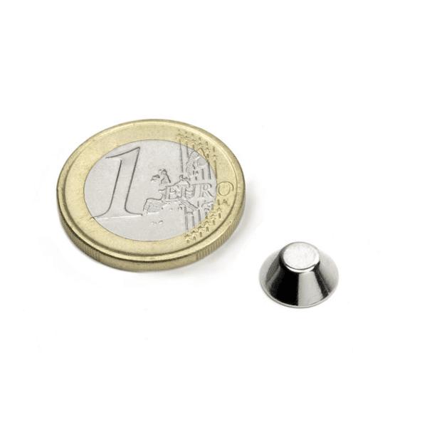 Conische magneet Neodymium N45 10-5 x 4 mm