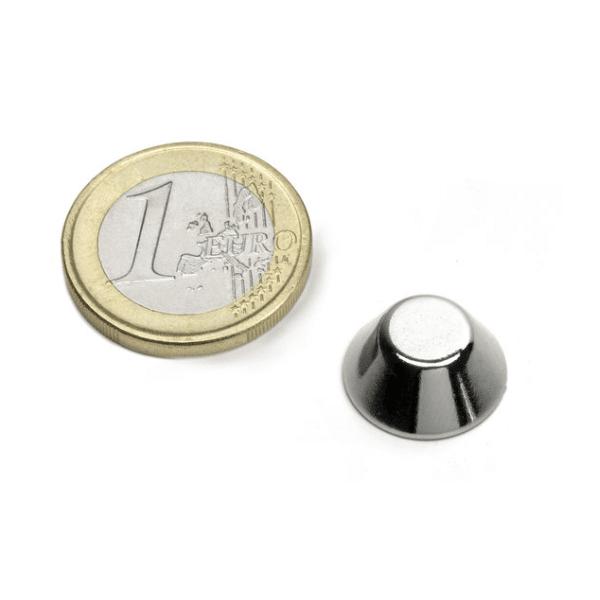 Conische magneet Neodymium N45 15-8 x 6 mm