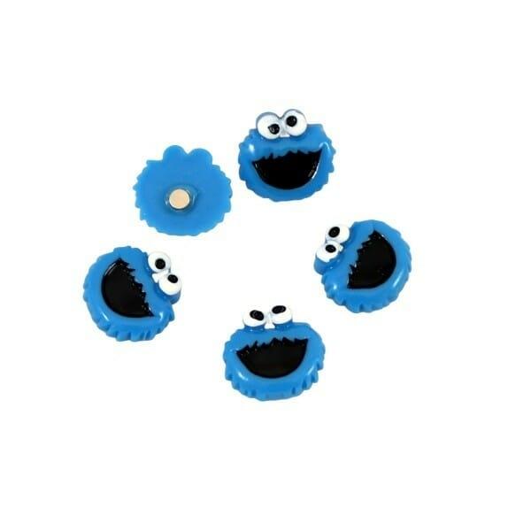 Magneet Cookie Monster met sterke Neodymium magneetje met een houdkracht van 87 gram