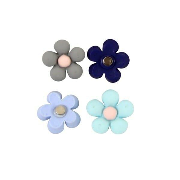 Magneetje Voorjaars bloemen met sterke Neodymium magneet koelkastmagneet