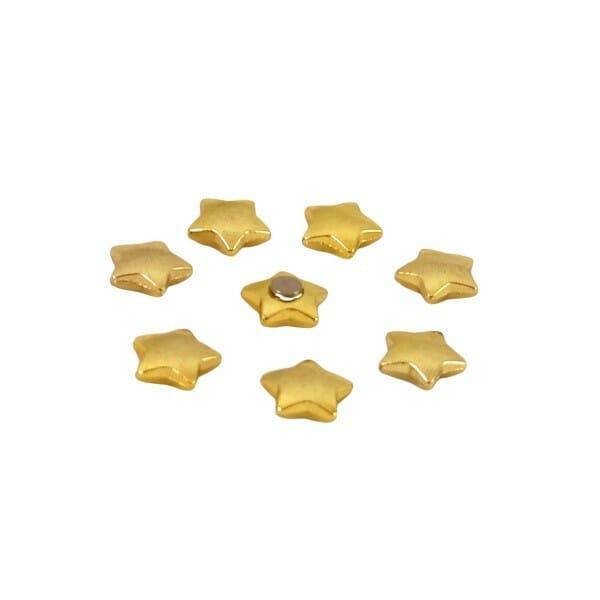 Magneetjes sterretjes goud met sterke Neodymium magneet met sterke houdkracht koelkastmagneten