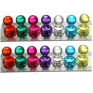 Neodymium push pin magneten N35 magneetjes voor whiteboard