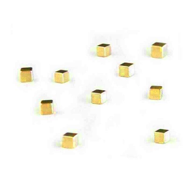 Magneet Neodymium Kubiq Goud Set 10 Pcs