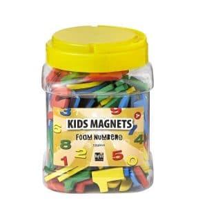 Magneet cijfers voor kinderen in verschillende kleuren