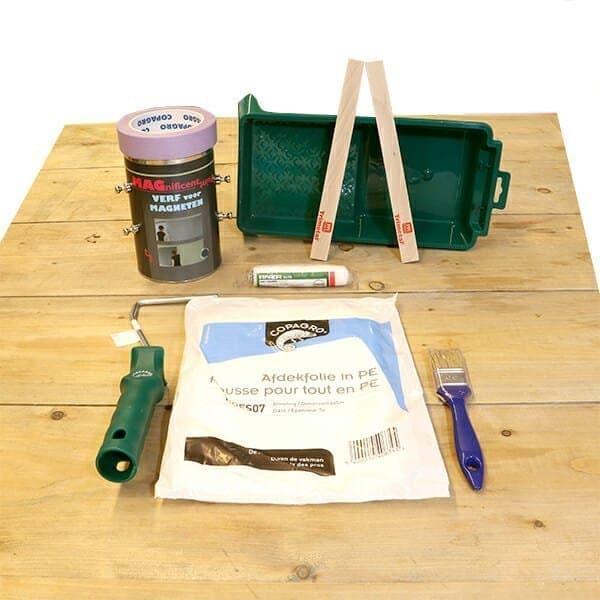 Magneetverf verfpakket voor magneetwand of magneetmuur Magnetic Paint The Magnetic Company