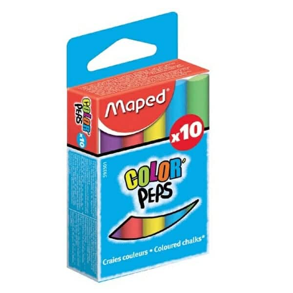 Schoolbordkrijt Maped Colorpeps Assorti Stofvrij