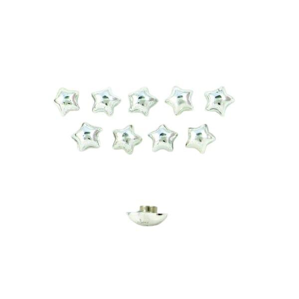 Magneetjes Sterretjes Zilver 10 Stuks Met Sterke Neodymium Magneet Voor Vasthouden Notities En Boodschappenlijstjes Removebg