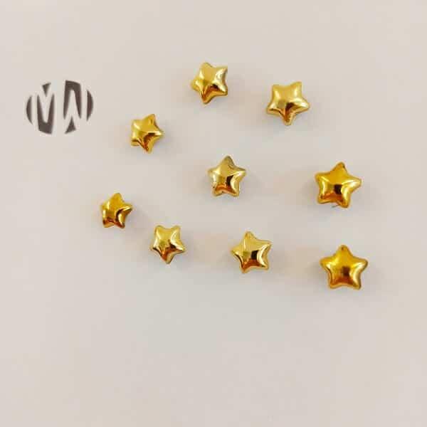 magneet sterretjes goud 10 stuks klein