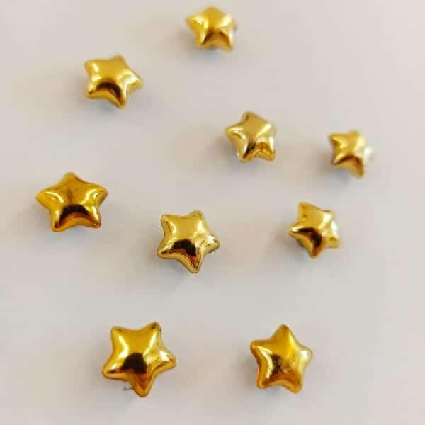 magneetjes sterren 10 stuks koelkastmagneet