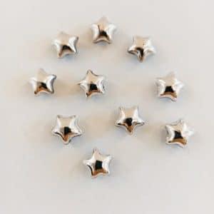 sterren magneetjes zilver 10 stuks