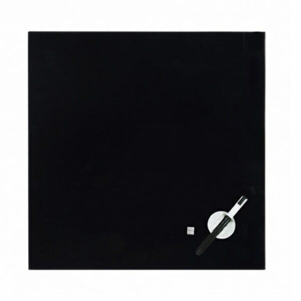 glas magneetbord pure zwart