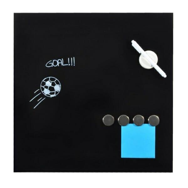 magnetisch glasbord 45x45 zwart 8717249810834