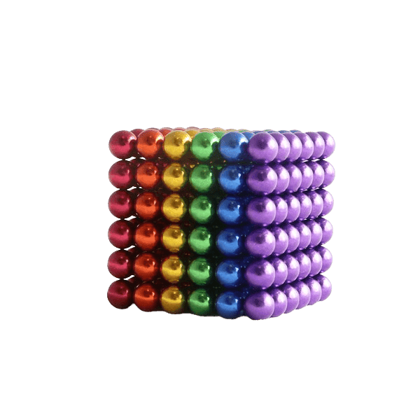 magneet balletjes kogelmagneet regenboog 5mm