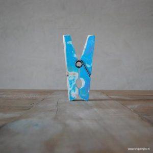 magneet knijper vintage blauw magneetjeswinkel.nl ede